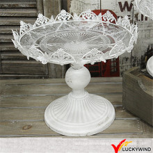 Venta al por mayor Shabby Chic Vintage Blanco Metal Wedding Cake Stands