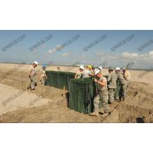 Obstacles au bastion militaire (barrières de Hesco)