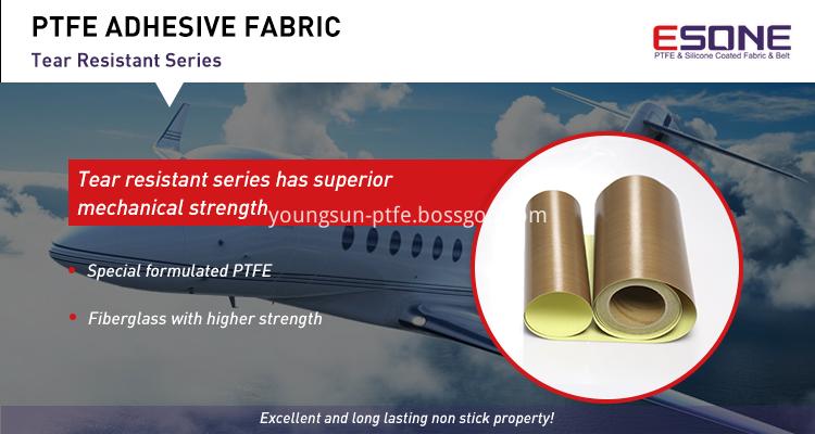 Non-stick PTFE adhesive fabric