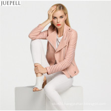 Ladies 2016 New Fashion PU Leather Hollow Street Women Jacket Short Paragraph Small Coat