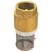 J5001 Brass Spring Check Valve with Net / brass check valve