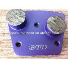 Nueva almohadilla abrasiva de diamante con dos segmentos redondos