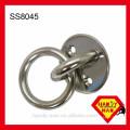 Оборудования морских SS8045 палубы из нержавеющей стали 304 круглое отверстие пластины с кольцом с винтом машины сливные отверстия кольца плиты