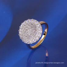 Xuping Luxury Gold-Plated Ring with Synthetic CZ