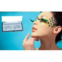 Creative Makeup Silver Lace Sequins False Eyelashes