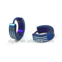 Gros boucle d'oreille en perles piercing en acier inoxydable
