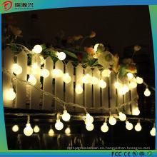 Luz de decoración de Navidad para LED Luz de cadena de la bola