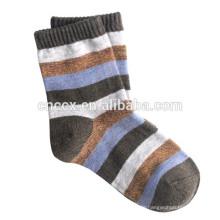 15CSK1201 gestreifte Kaschmir Baby Socken