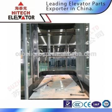 Cabine de vidro de elevador para shopping