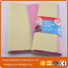 Chiffon de nettoyage polyvalent en tissu non tissé perforé à l'aiguille de haute qualité