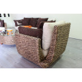 Unique Amusing DesignsAntique Natural Water Hyacinth Sofa Set for Living Room Wicker Furniture