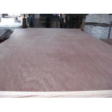 Linyi madera dura roja / bintangor madera contrachapada comercial con núcleo de álamo