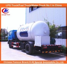 6 Wheeler 15000L LPG Tanker Truck 10m3 LPG Gas Füllen Tanker Truck
