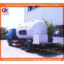 6 Wheeler 15000L LPG caminhão-tanque 10m3 LPG gás que enche camião-cisterna