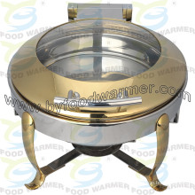 Hook Leg Chafer Golden Round Stainless Chafing Dish