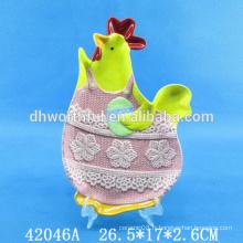 Plaque de bonbons en céramique avec design de pâques
