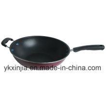 Kitchenware Carbon Steel Non-Stick Wok with Two Handles Cookware