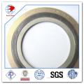 Joint enrouleux en spirale Ss316 / Graphite avec joints d'étanchéité à joint extérieur CS