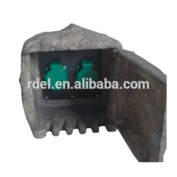 2way safey contact sockets only for stone shape garden socket