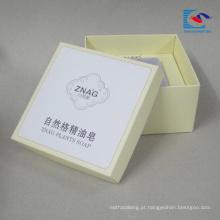 o costume da caixa de papel imprimiu para a embalagem do sabão e do presente com etiqueta da etiqueta