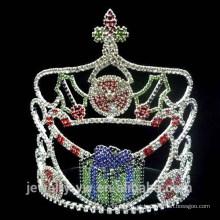 Moda cristal dom caixa de natal coroas de representação