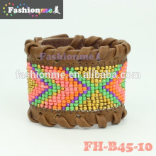 pulseiras de envoltório mais novos na moda couro