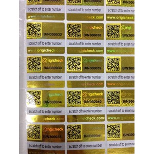 QR Code Hologram Imprimable Sticky Labels