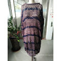 Spring Fashion Pink Stripe Color Openwork Jacquard Thin Ladies Sweater