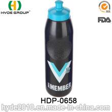 Botellas de agua plásticas libres al aire libre del deporte de 2017 BPA, botella de agua corriente plástica del PE (HDP-0658)