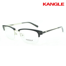 acetate metal combined eyegalsses combination optical frame new designer spectacle