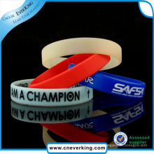 Carved Technique and Sports Theme Silicone Wristband