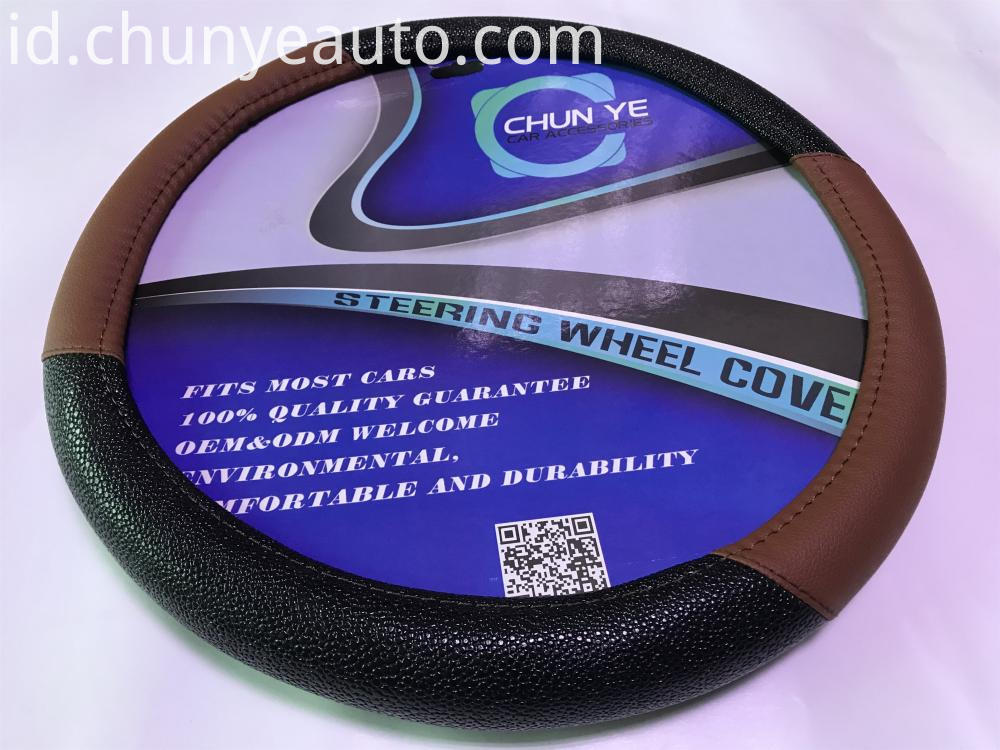monogrammed leather steering wheel cover