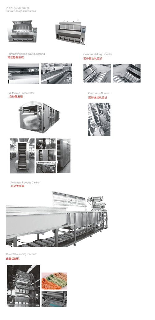 Automatic noodle production line details