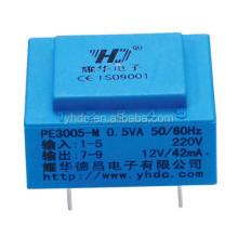 0.5VA 230V 220V power PCB mounting mini power transformer
