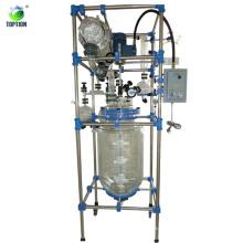 Three Layers 20L Glass Reactor machine TOPTION Brand