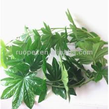 China Natural decorativo pendurado artificial plam árvore folhas com preço feliz