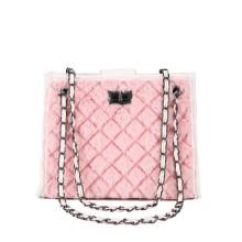 2021 New Rhombic Chain One-Shoulder Plush Messenger Bag for Women