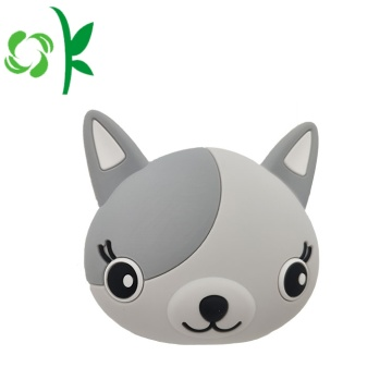 Mini porte-monnaie en silicone 3D Animal chat mignon