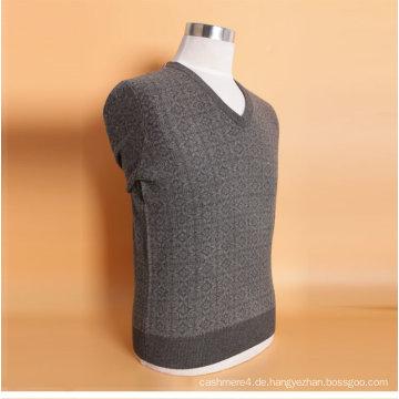 Yak Wolle / Cashmere V Neci Pullover Langarm Pullover / Kleidungsstück / Kleidung / Strickwaren