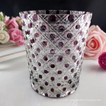 Tasses en verre cristal clair