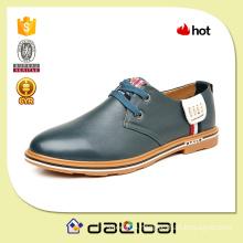 OEM shoe factory wholesale cheap fashion camel second leather shoes for men