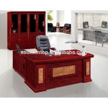 Laminado mobiliario de oficina de pie en forma de L escritorio de oficina