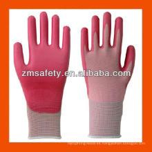 Buen precio PU guantes de revestimiento de Palma