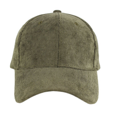Wholesale cheap high quality simple plain corduroy baseball cap