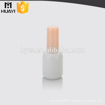 round bottle glass nail polish with cap and brush