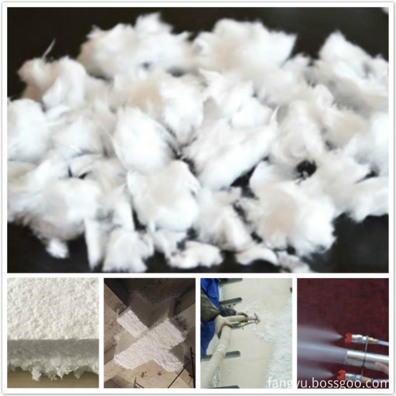 Inorganic spraying fiberglass