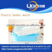 Compras cesta de plástico moldes de inyección molde de la cesta de inyección en taizhou zhejiang china