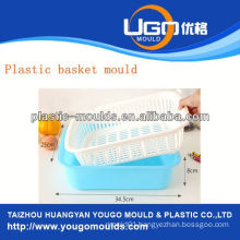 shopping plastic basket injection moulds injection basket mould in taizhou zhejiang china