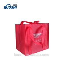 bolso de compras no tejido del bolso de la impresión en línea