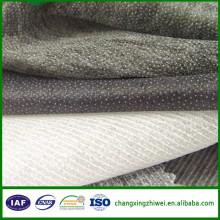 Interlining barato ampliamente utilizado China hizo la tela de poliéster para la ropa